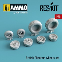 British Phantom wheels set - Scale 1/48 - Reskit - RS48-0067