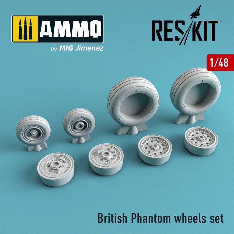 Reskit British Phantom wheels set - Scale 1/48 - Reskit - RS48-0067