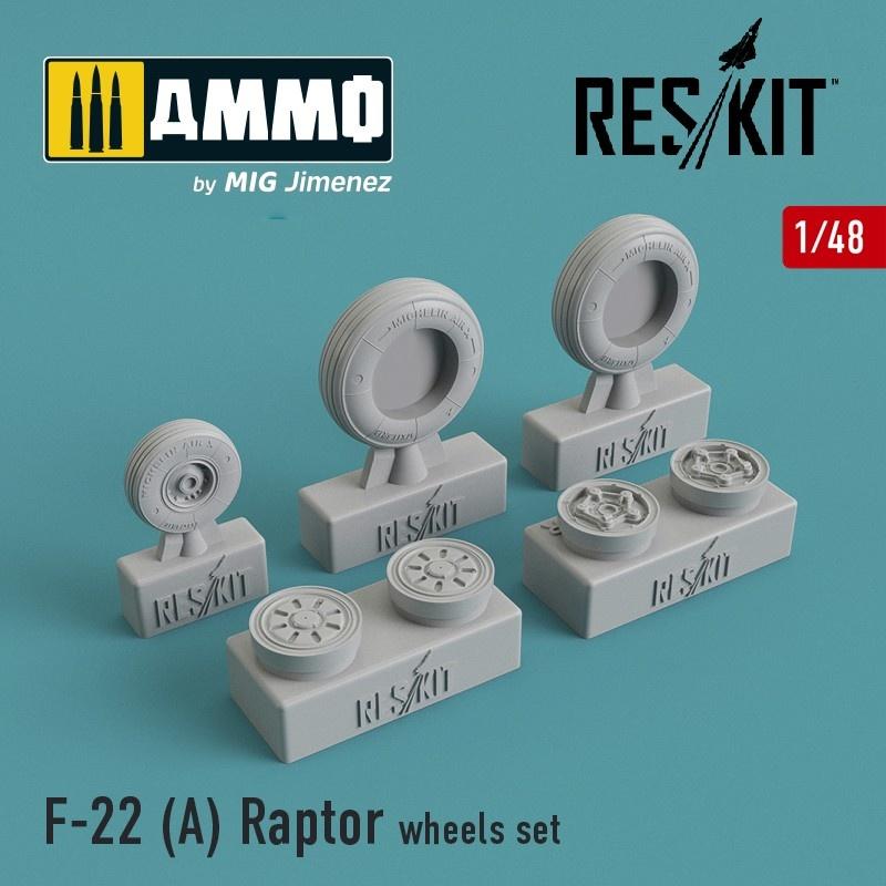 Reskit F-22A Raptor wheels set - Scale 1/48 - Reskit - RS48-0091