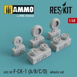 AIDC IDF F-CK-1 A/B/C/D Wheel Set - Scale 1/48 - Reskit - RS48-0092