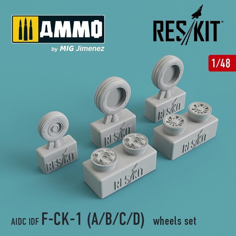 Reskit AIDC IDF F-CK-1 A/B/C/D Wheel Set - Scale 1/48 - Reskit - RS48-0092