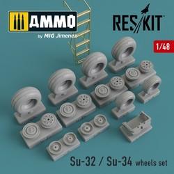 Su-32 / Su-34 wheels set - Scale 1/48 - Reskit - RS48-0096