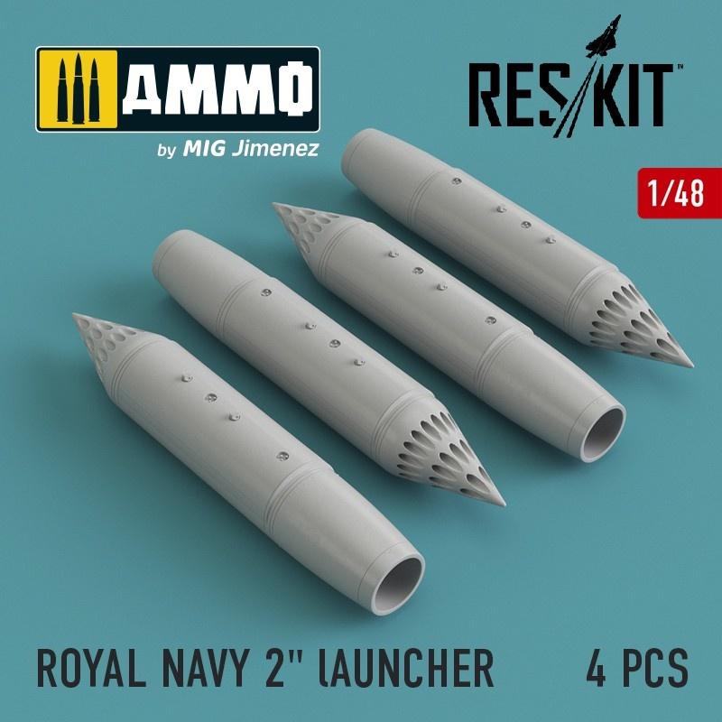 Reskit BL755 Cluster Bomb (4 pcs) (Jaguar, Harrier, Phantom, MiG-27) - Scale 1/48 - Reskit - RS48-0108