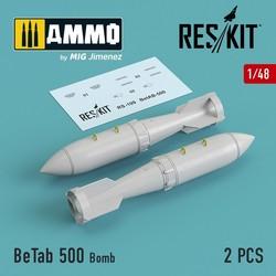 BeTab 500 Bomb (2 pcs) (Su-17/24/25/34, MiG-27) - Scale 1/48 - Reskit - RS48-0109