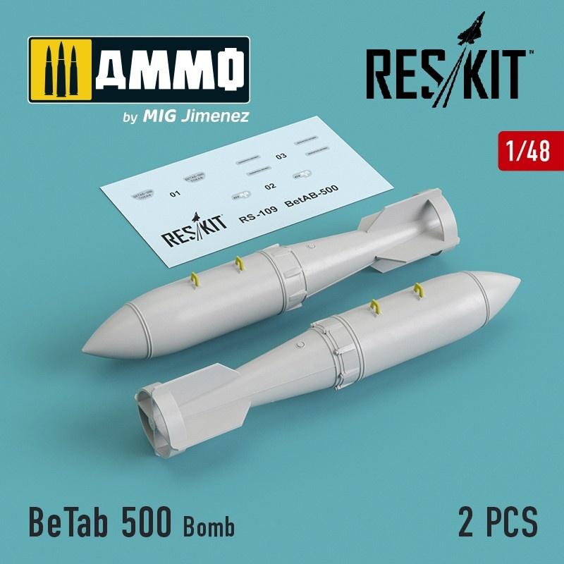 Reskit BeTab 500 Bomb (2 pcs) (Su-17/24/25/34, MiG-27) - Scale 1/48 - Reskit - RS48-0109