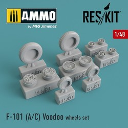 McDonnell F-101 (A/C) Voodoo wheels set - Scale 1/48 - Reskit - RS48-0112
