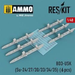 BD3-USK Racks (Su-24/27/30/33/34/35) (6 pcs) - Scale 1/48 - Reskit - RS48-0160