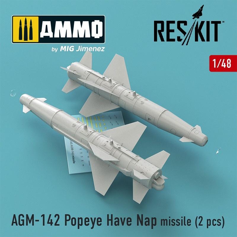 Reskit AGM-142 Popeye Have Nap missile (2 pcs) (F-4, F-15, F-16, F-111) - Scale 1/48 - Reskit - RS48-0146