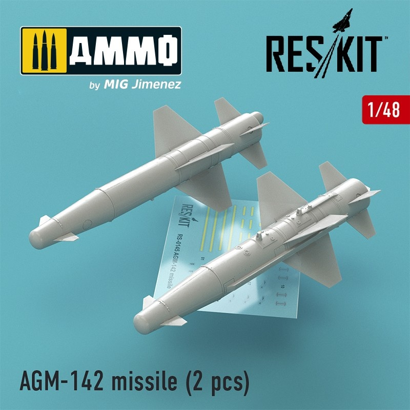 Reskit AGM-142 missile (2 pcs) (F-4, F-15, F-16, F-111) - Scale 1/48 - Reskit - RS48-0145