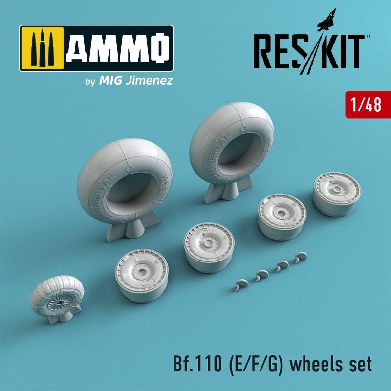 Reskit Bf.110 (E/F/G) wheels set - Scale 1/48 - Reskit - RS48-0216
