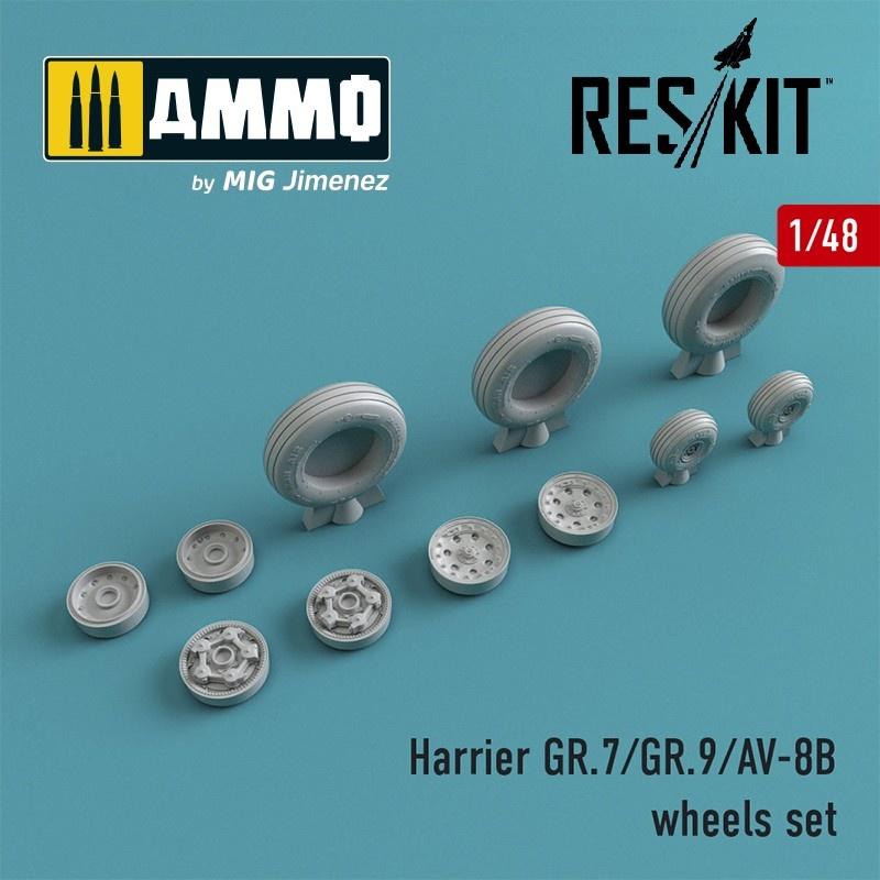 Reskit Harrier GR.7/GR.9/AV-8B wheels set - Scale 1/48 - Reskit - RS48-0212
