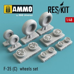 F-35 (C) wheels set - Scale 1/48 - Reskit - RS48-0186