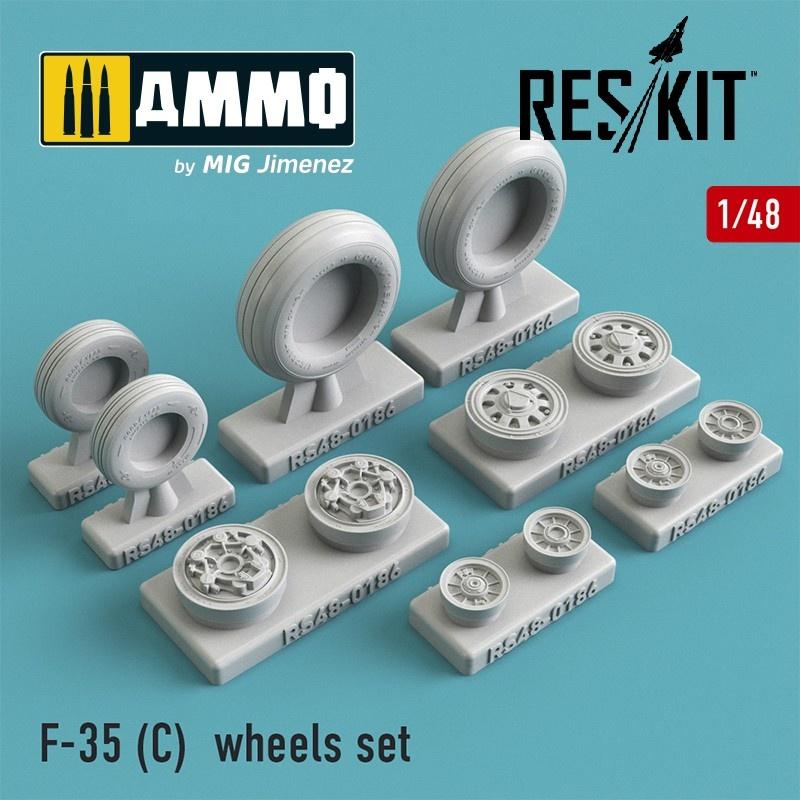Reskit F-35 (C) wheels set - Scale 1/48 - Reskit - RS48-0186