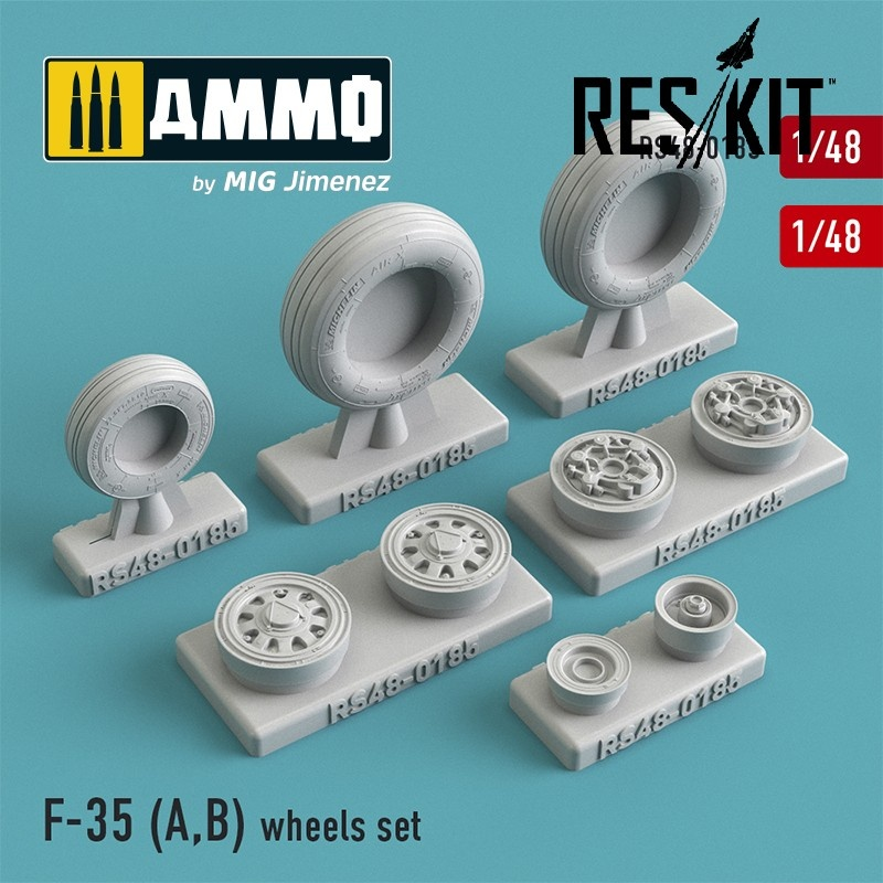 Reskit F-35 (A,B) wheels set - Scale 1/48 - Reskit - RS48-0185