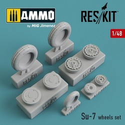 Su-7 wheels set - Scale 1/48 - Reskit - RS48-0181