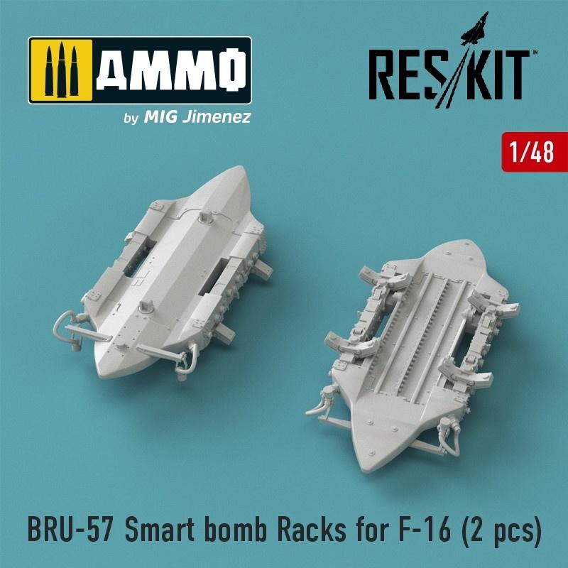 Reskit BRU-57 Smart bomb Racks for F-16 (2 pcs) - Scale 1/48 - Reskit - RS48-0176