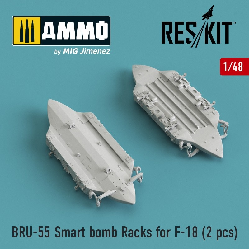 Reskit BRU-55 Smart bomb Racks for F-18 (2 pcs) - Scale 1/48 - Reskit - RS48-0175