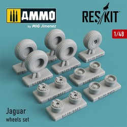 Sepecat Jaguar wheels set - Scale 1/48 - Reskit - RS48-0163