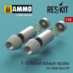 F-18 Hornet exhaust nozzles for Hobby Boss Kit - Scale 1/48 - Reskit - RSU48-0027