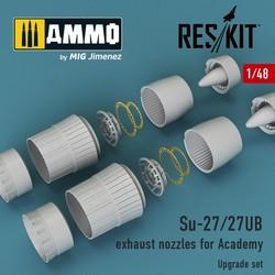 Su-27/27UB exhaust nozzles for Academy - Scale 1/48 - Reskit - RSU48-0013