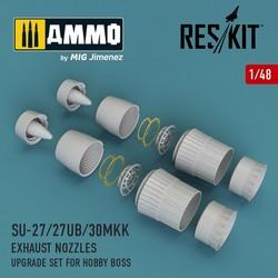 Su-27/27UB/30MKK exhaust nozzles for Hobby Boss - Scale 1/48 - Reskit - RSU48-0012