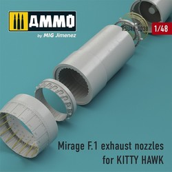 Mirage F.1 exhaust nozzles for KITTY HAWK Kit - Scale 1/48 - Reskit - RSU48-0038