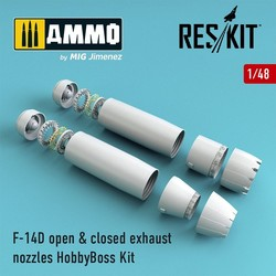 F-14D Tomcat open & closed exhaust nozzles for HobbyBoss Kit - Scale 1/48 - Reskit - RSU48-0073