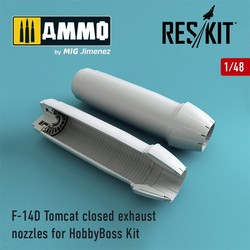 F-14D Tomcat closed exhaust nozzles for HobbyBoss Kit - Scale 1/48 - Reskit - RSU48-0072
