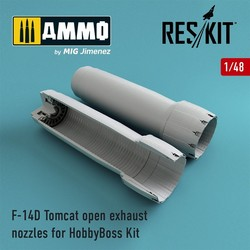 F-14D Tomcat open exhaust nozzles for HobbyBoss Kit - Scale 1/48 - Reskit - RSU48-0071