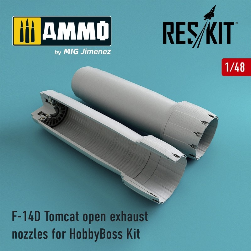 Reskit F-14D Tomcat open exhaust nozzles for HobbyBoss Kit - Scale 1/48 - Reskit - RSU48-0071