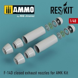 F-14D Tomcat closed exhaust nozzles for AMK Kit - Scale 1/48 - Reskit - RSU48-0065