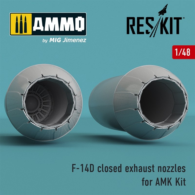 Reskit F-14D Tomcat closed exhaust nozzles for AMK Kit - Scale 1/48 - Reskit - RSU48-0065
