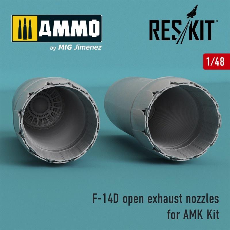Reskit F-14D Tomcat open exhaust nozzles for AMK Kit - Scale 1/48 - Reskit - RSU48-0064