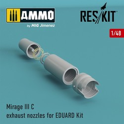 Mirage III C exhaust nozzles for EDUARD Kit - Scale 1/48 - Reskit - RSU48-0061