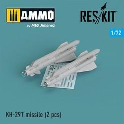 Kh-29T (AS-14B Kedge) missile (2 pcs) Su-17, Su-25,Su-24, Su-34, Su-30, Su-39, Mig-27, Yak-130, Mirage F.1 - Scale 1/72 - Reskit - RS72-0101