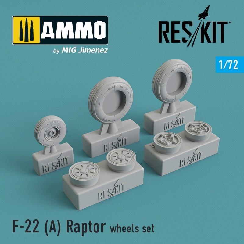 Reskit F-22A Raptor wheels set - Scale 1/72 - Reskit - RS72-0091