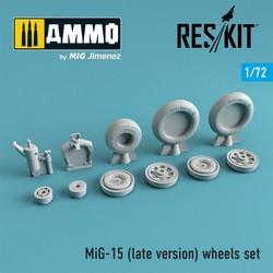 MiG-15 (late version) wheels set - Scale 1/72 - Reskit - RS72-0080