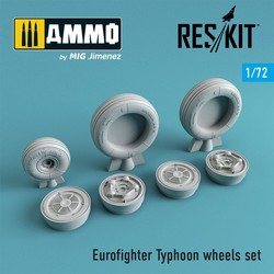 MiG-15 (early version) wheels set - Scale 1/72 - Reskit - RS72-0079