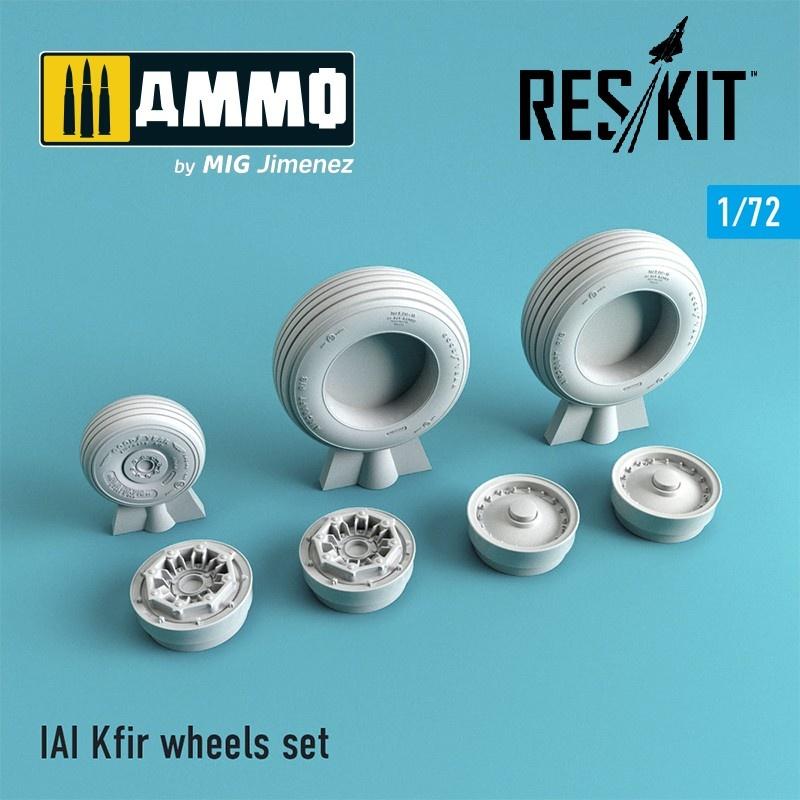 Reskit IAI Kfir wheels set - Scale 1/72 - Reskit - RS72-0051