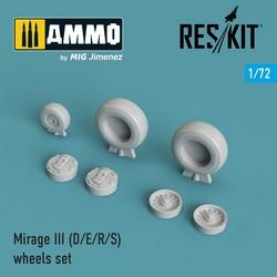 Mirage III (D/E/R/S) wheels set - Scale 1/72 - Reskit - RS72-0029
