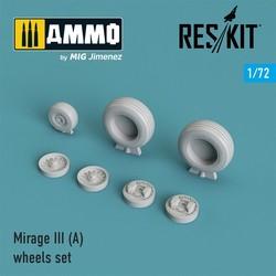 Mirage III (A) wheels set - Scale 1/72 - Reskit - RS72-0027