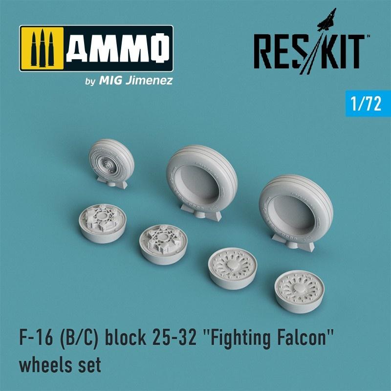 "Reskit F-16 (B/C) block 25-32 ""Fighting Falcon"" wheels set - Scale 1/72 - Reskit - RS72-0024"