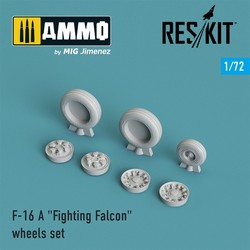 """F-16 (A) """"Fighting Falcon"""" wheels set - Scale 1/72 - Reskit - RS72-0023"""