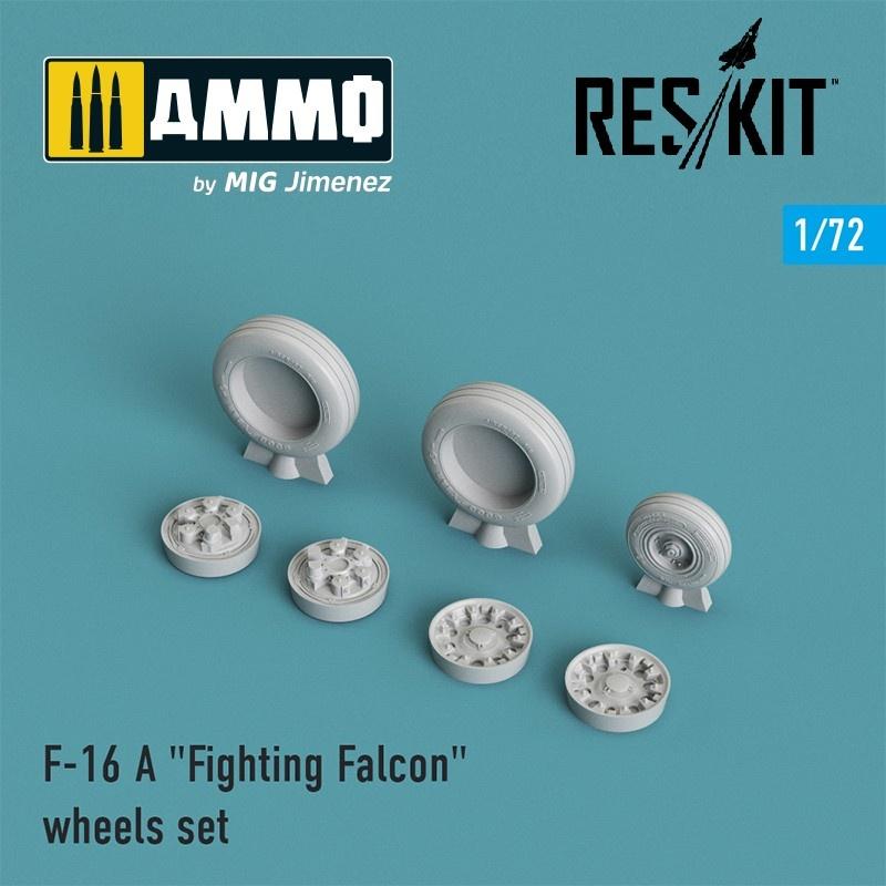"Reskit F-16 (A) ""Fighting Falcon"" wheels set - Scale 1/72 - Reskit - RS72-0023"