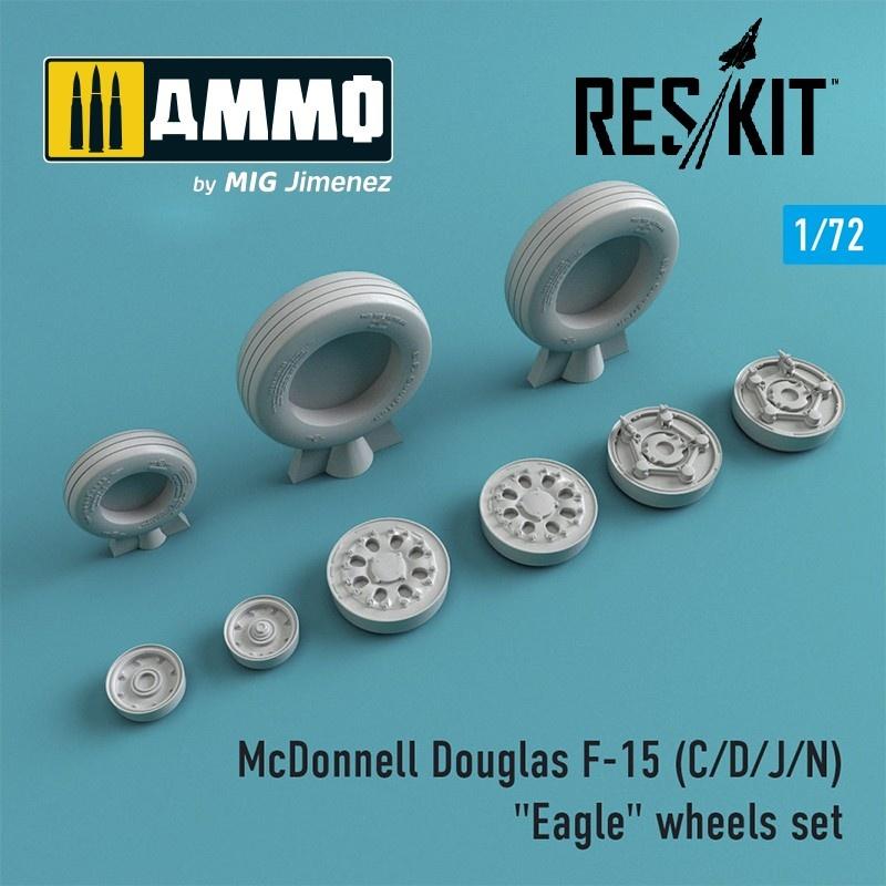 "Reskit F-15 (C/D/J/N) ""Eagle"" wheels set - Scale 1/72 - Reskit - RS72-0022"