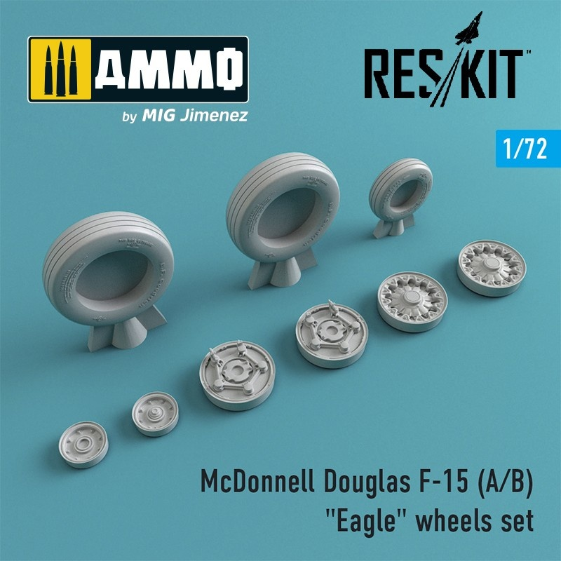 "Reskit F-15 (A/B) ""Eagle"" wheels set - Scale 1/72 - Reskit - RS72-0020"