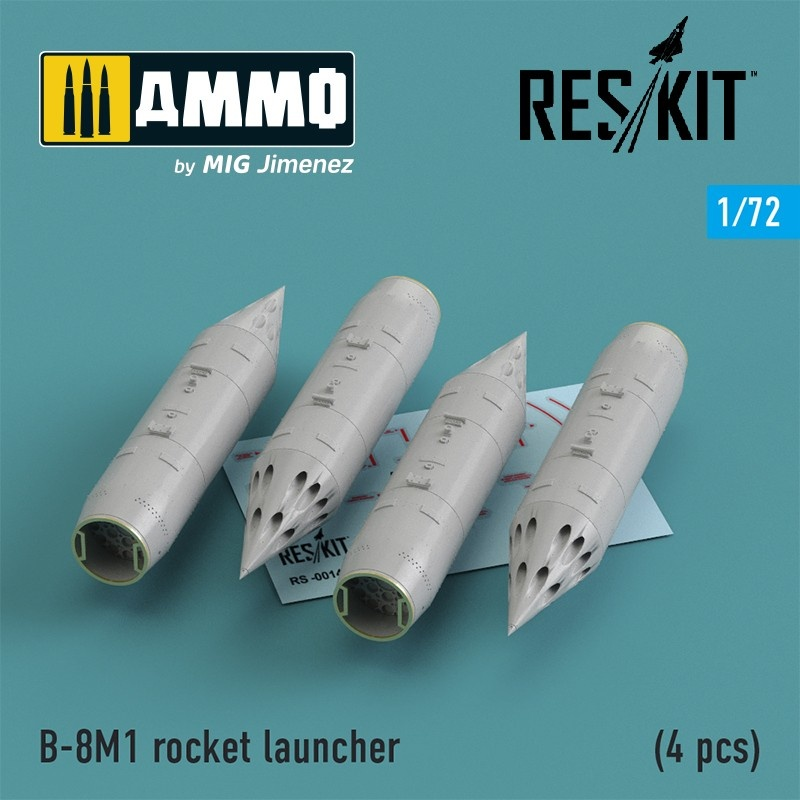 Reskit B-8M1 (4 pcs) (MiG-23/27/29 Su-17/20/22/24/25/27/33/34 Yak-38) - Scale 1/72 - Reskit - RS72-0013