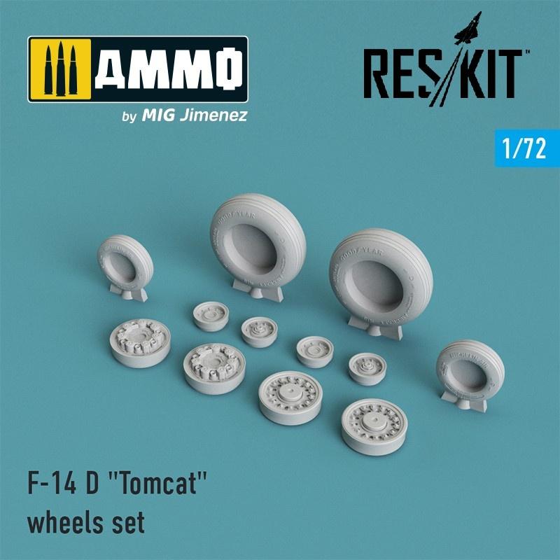 "Reskit F-14 (D) ""Tomcat"" wheels set - Scale 1/72 - Reskit - RS72-0007"