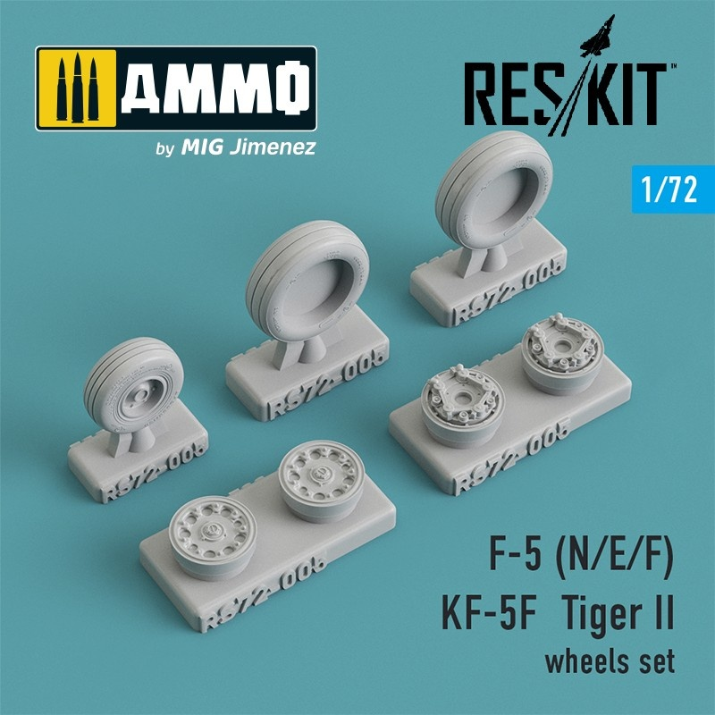 Reskit F-5 (N/E/F), KF-5F Tiger II wheels set - Scale 1/72 - Reskit - RS72-0005