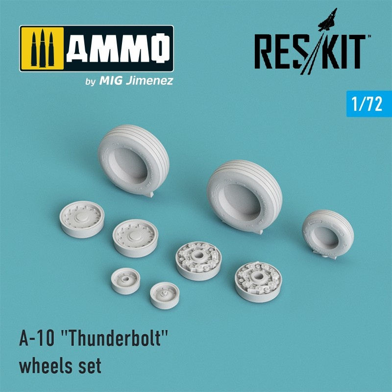 "Reskit A-10 ""Thunderbolt"" wheels set - Scale 1/72 - Reskit - RS72-0002"
